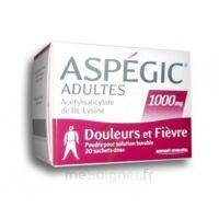 Aspegic Adultes 1000 Mg, Poudre Pour Solution Buvable En Sachet-dose 20 à Sassenage