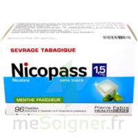 Nicopass 1,5 Mg Pastille Sans Sucre Menthe Fraîcheur Plq/96 à Sassenage