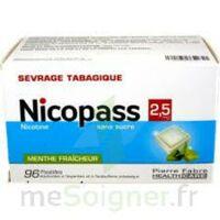 Nicopass 2,5 Mg Pastille Menthe Fraîcheur Sans Sucre Plq/96 à Sassenage