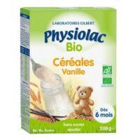 Physiolac Céréales Vanille Bio B/200g à Sassenage
